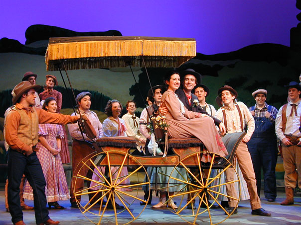 "ensemble, ""Oklahoma."" Me behind the car on the left)"